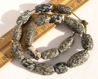 Antique Granite Stone Beads Gneiss Dogon Ancient African Trade Beads Large