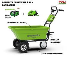 Greenworks Carrello da giardino Batteria Non Inclusa Carretto trasporto