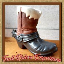 COWBOY BOOT porcelain pencil pen holder Cowboy Boot Spurs Ceramic Cactus POT