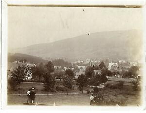 Orig. Foto BAD FLINSBERG /SWIERADÓW-ZDRÓJ /Riesengebirge Teilansicht um 1900