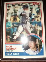 1983 Topps #602 Rich Gedman BOSTON RED SOX