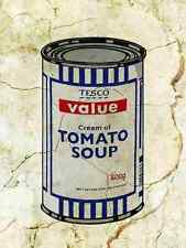 Banksy Tesco Soup Wall A4 Sign Aluminium Metal