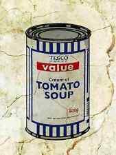 Banksy Tesco Soup Wall A4 Sign Aluminium Metal