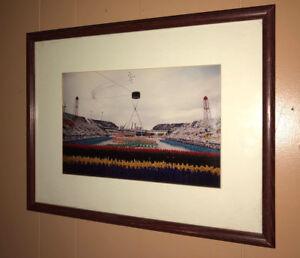 CALGARY CANADA 1988 WINTER OLYMPICS FRAMED PRINT