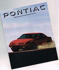 88 Page Deluxe FL Sales Brochure 1991 Pontiac Firebird Grand Am Bonneville +