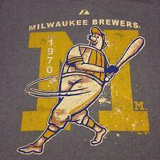Milwaukee Brewers Medium Blue T-Shirt MLB baseball Wisconsin