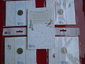Beatrix Potter 2018 UK 50p Coins, Albums BUNC MINT CONDITION SEALED NEW