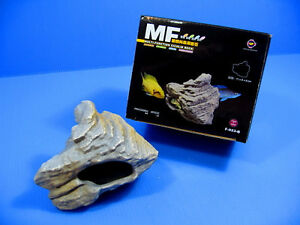 MF CICHLID STONE Ceramic Aquarium Rock Cave decor F923B