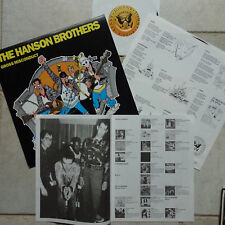 """Hanson Brothers-Gross Misconduct LP + 7"""" virus 116 Nomeansno playing Ramones"""