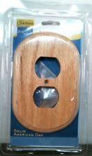 Oakbrook 48378 Solid American Oak Double Outlet Plate, Oval Shape