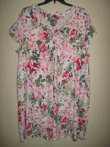 Nwt Croft & Barrow Polyester Blend Nightgown ~ Plus Sz.3X