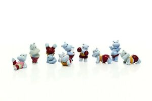 Kinder Surprise Egg Figurines Happy Hippos At the Gym 1990