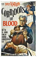 G2618 Corridors Of Blood Boris Karloff Movie 2 VHS Vintage Laminated Poster FR