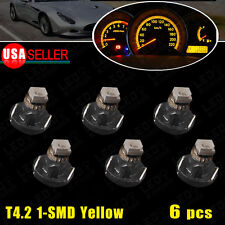 6 PCS Amber Yellow T4/T4.2 Neo Wedge Cluster Instrument Dash Climate LED Lights