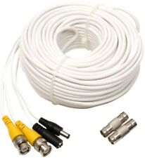 Video and Power Bnc Male Cable, 100-Ft. Indoor/Outdoor with 2 Female Connector