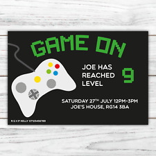 10 *PERSONALISED* party GAMING truck xbox INVITATIONS birthday INVITES