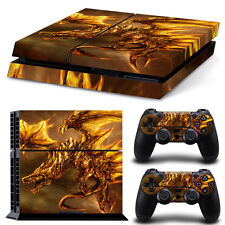 Sony PS4 Playstation 4 Skin Design Aufkleber Schutzfolie Set - Dragon 2 Motiv
