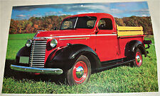 1940 Chevrolet Pickup truck print (red & black)