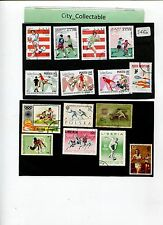 15 PCS SPORTS USED STAMPS - FOOTBALL/ATHLETICS ETC # S450