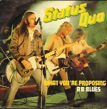 "STATUS QUO - What You're Proposing (1980 VINYL SINGLE 7"" DUTCH PS)"
