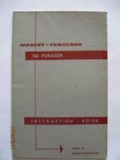 FERGUSON FORAGER INSTRUCTION BOOK  ........................  ORIGINAL MANUAL 760