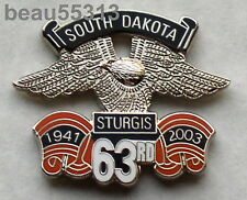STURGIS CHAMBER SOUTH DAKOTA 63th 2003 RALLY VEST JACKET HAT PIN