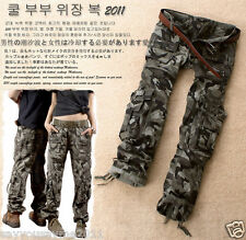 Ladies Womens Military Cargo Gray Camo Pants Woodland Combat Trousers Jeans S PLS Check The Size Chart Thx.