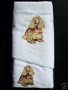 COCKER SPANIEL HAND TOWEL & FACE WASHER SET - BRAND NEW