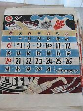 39 Blätter Konvolut aus Japanese Katazome Calendars  Rare!!!