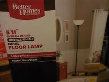 "Better Homes and Gardens Bronze 5'11"" Floor Lamp NIB"