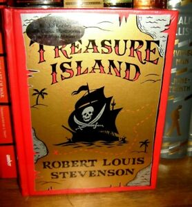 Treasure Island by Robert Louis Stevenson Sealed Leather Bound Collectible NEW