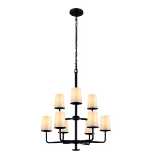 Feiss F2925/3+6ORB 9-Bulb Chandelier, Oil Rubbed Bronze Finish (C1)