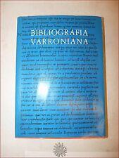 CLASSICI LATINI - BIBLIOGRAFIA VARRONIANA 1974 Riposati Marastoni Celuc Rotary
