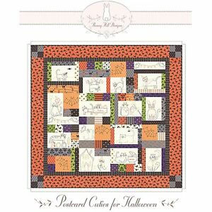 Postcard Cuties for Halloween Quilt Pattern by Bunny Hill Designs