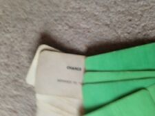 Monopoly Game, Set Of Chance Cards. Genuine Waddingtons Parts.
