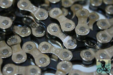1pcs Steel 8 speed 116 links Mtb Mountain Road cycling Chain Silver 332g