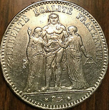 1875 A FRANCE REPUBLIC HERCULE SILVER 5 FRANCS ARGENT