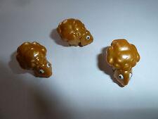 Mega Bloks Skylanders Giants minifig golden sheep figure lot of 3 gold cute