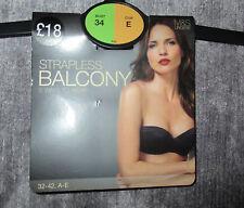 BNWT PRETTY M&S BALCONY BRA 34E 5 Ways To Wear