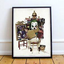 The Joker, Joaquin Phoenix, Norman Rockwell Painting, fine art print signed by K