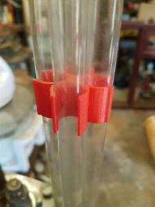 Case and Bullet feeder clamp for LEE reloading press Lee tube clip 1 set of 2ea
