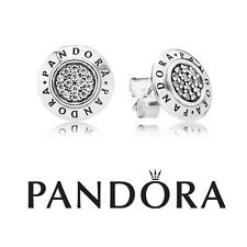 Authentic Pandora Silver Signature Stud Earrings