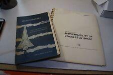 Vintage NASA Space Exploration Paperwork Psychology Maintainability of Vehicles