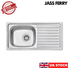 JASS FERRY Stainless Steel Kitchen Sink 1.0 Bowl Reversible Drainer 860 x 435 mm