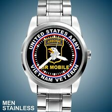 U.S. Army 101st Airborne Air Mobile Vietnam Veteran New Men Stainless Watch