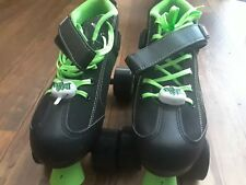 Pacer GTX500 quad roller size skates 4 black & lime green wheels Normally $99
