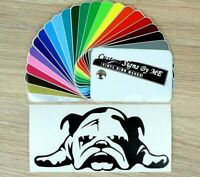 English Bulldog Sticker Vinyl Decal Adhesive Wall Car Window Bumper Laptop Black