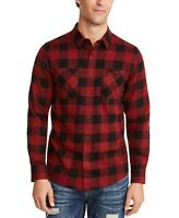 American Rag Mens Shirt Red Size XS Button Down Buffalo Plaid Austin $45 014