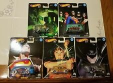 HOT WHEELS POP CULTURE DC COMICS 2018 COMPLETE SET OF 5 *RED HOT NEW IN STOCK*