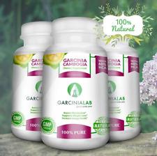 3Pack 60% HCA Garcinia Cambogia 100Pure Weight Loss Aid Veggies Capsules Natural